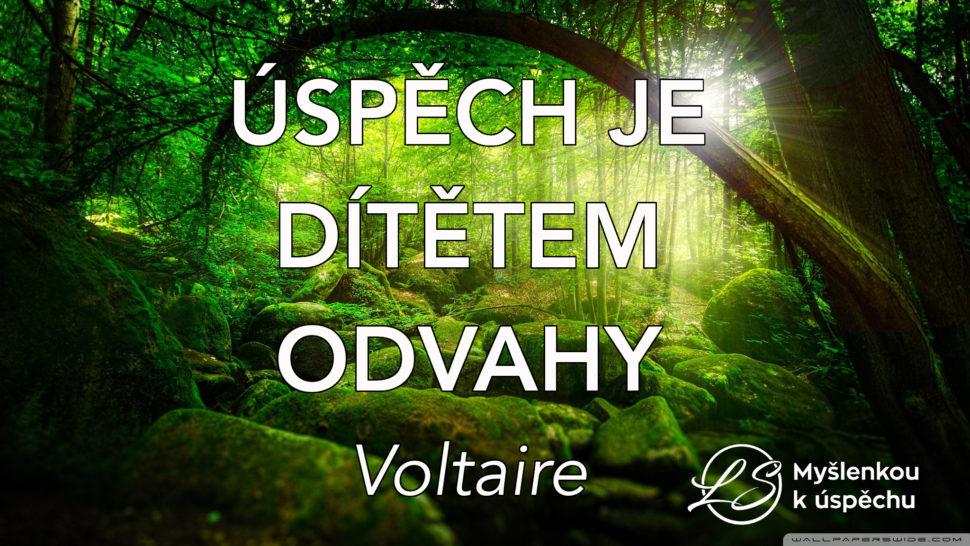 Úspěch je dítětem odvahy. Voltaire. Myšlenkou k úspěchu